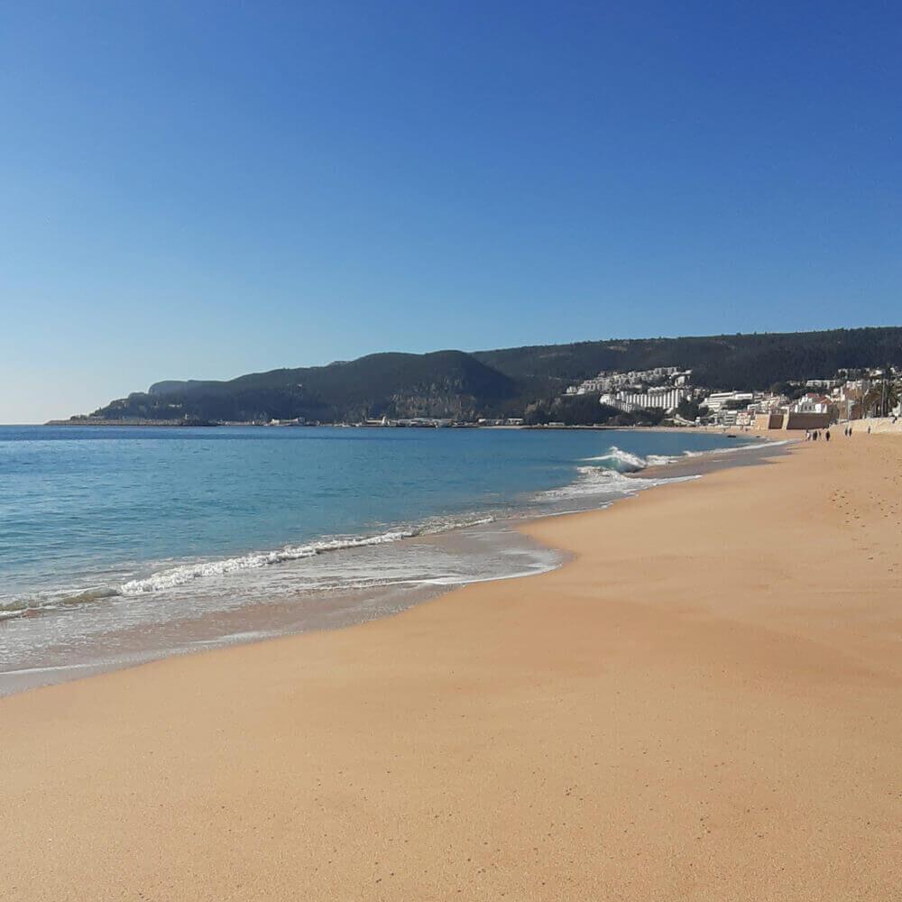 California beach in Sesimbra, Portugal