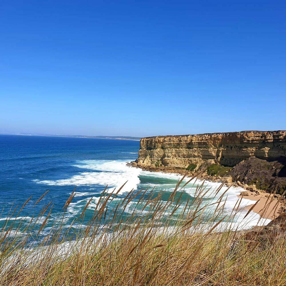 Cliffs and rock formation of Praia da Foz, Sesimbra