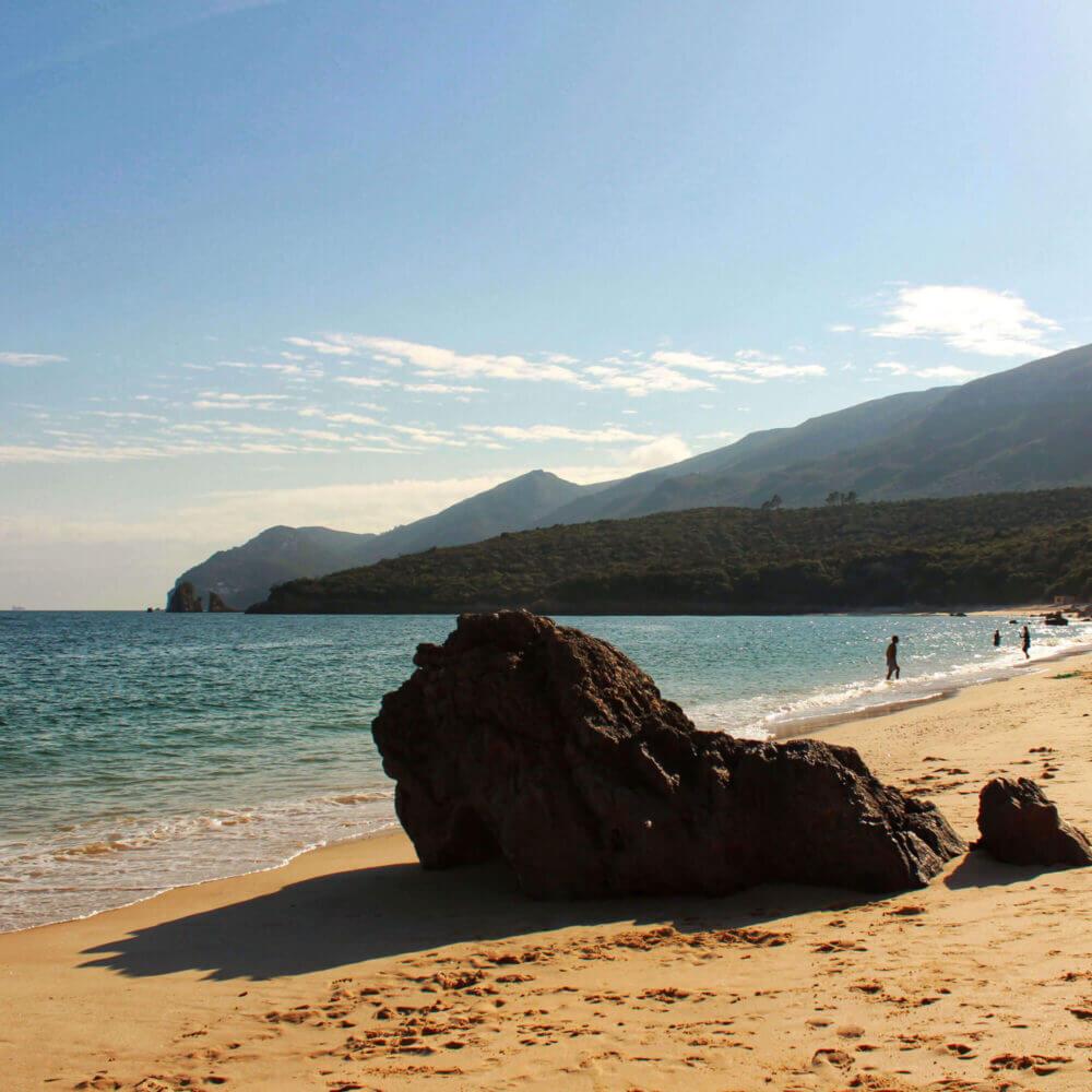 Crystalline water of Galapinhos Beach, between mountains