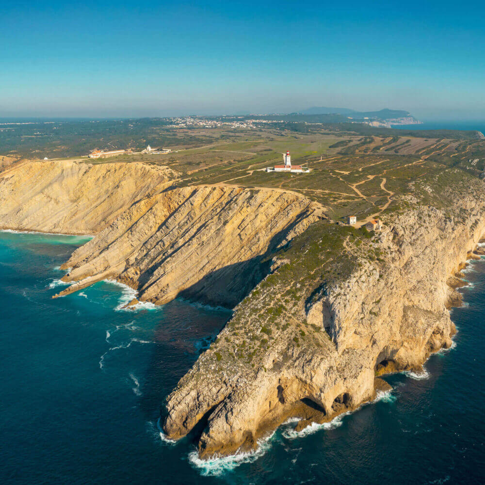 Aerial drone view of Cabo Espichel