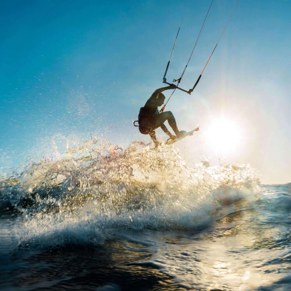 Lagoa de Albufeira has fantastic conditions for kitesurfing