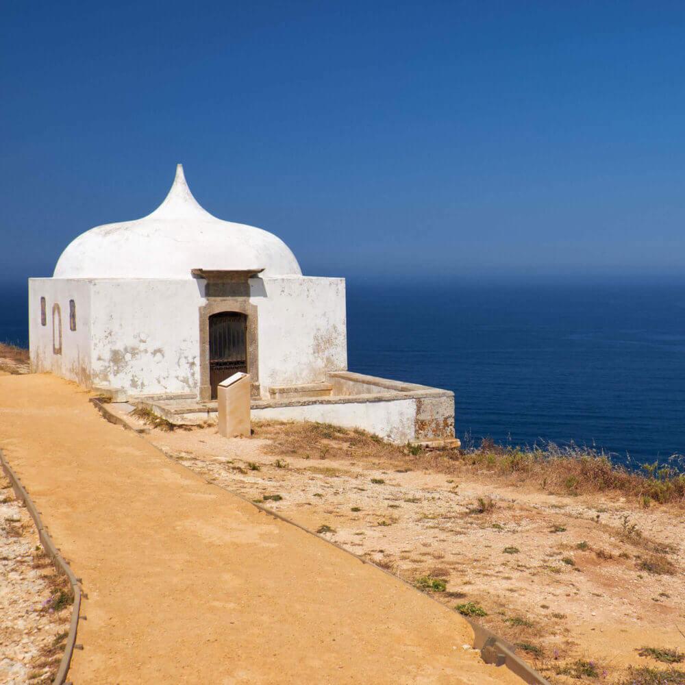 Memory Chapel near cape Espichel, Portugal